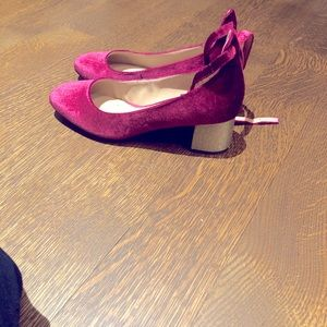 Velour burgundy shoes
